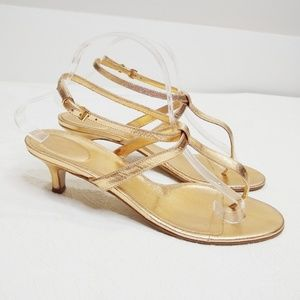 J.Crew Metallic Leather Multi-Strap Naked Sandal